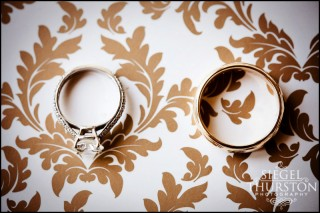 wedding rings at the Langham Hotel