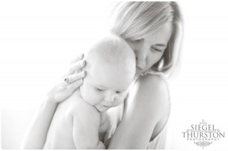 mom and baby girl, 6 month photos with San Diego family photographer