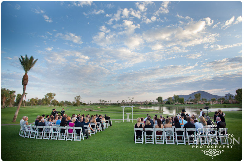 Pin Image Mccormick Ranch Golf Club Sunset Wedding Ceremony On The Green