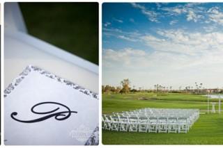 sunset wedding ceremony McCormick Ranch Golf Club Scottsdale Arizona