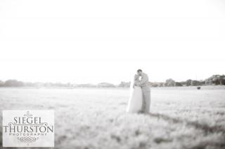 vintage field wedding photos