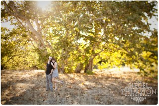 leaves changing color engagement shoot san diego