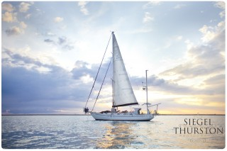 romantic sailing on the San Diego bay