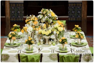 yellow-green-white-wedding-table-linnens-setting
