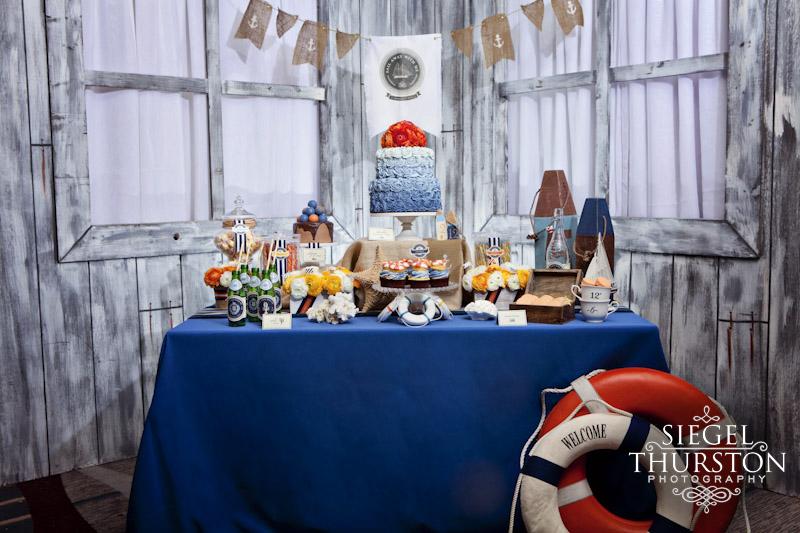 nautical theme wedding tablescape