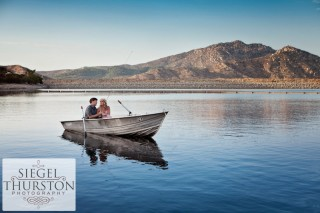 The Notebook inspired engagement shoot on a lake in a row boat