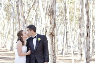 romantic wedding portraits in the eucalyptus groves at UCSD faculty club La jolla