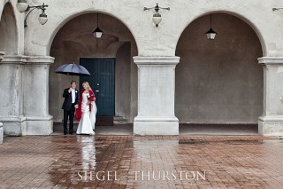 rainy wedding in san diego