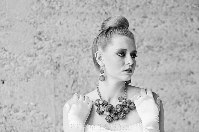 black and white artistic bridal portraits