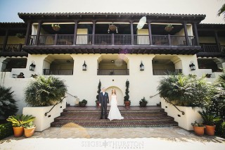 bride and groom at Estancia Hotel and Spa