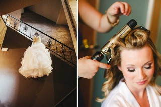 bride getting ready in the bridal suite at the Skyline Country Club in Tucson