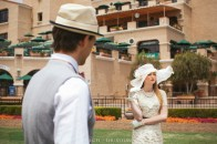 classy styled engagement shoot at the del mar race track in san diego