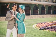 del mar race track styled engagement shoot