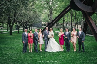 nasher sculpture center wedding portraits dallas texas