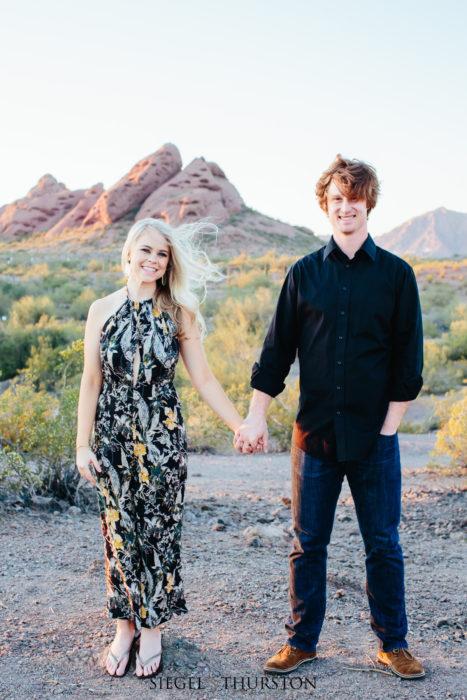 Papago Park Engagement Phoenix Arizona
