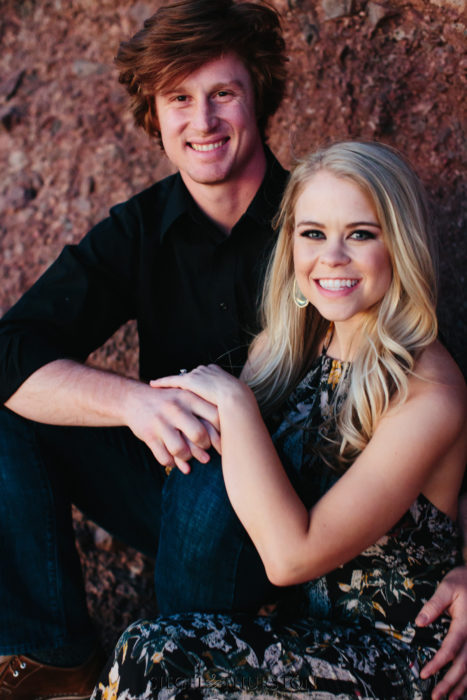 outdoor desert engagement session phoenix arizona