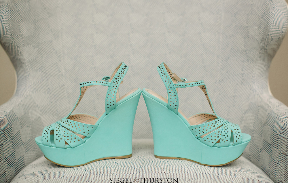teal wedding wedges